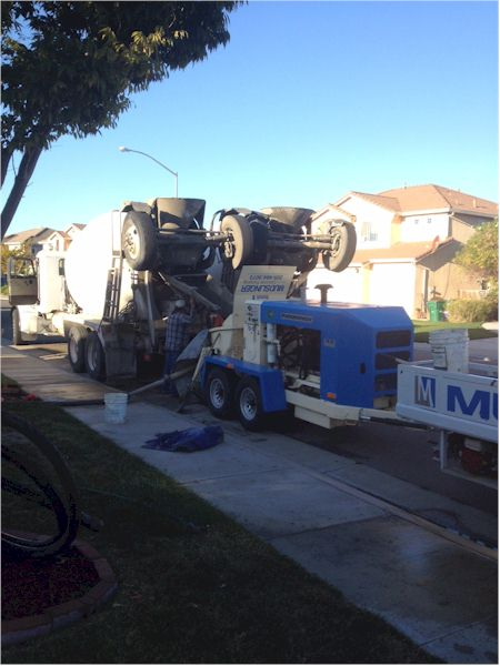 Residential Concrete Pumping in the Central Valley - www.mudslingerconcretepumping.com